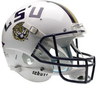 LSU Louisiana State Tigers WHITE Schutt NCAA College Football Team Full Size Replica XP Helmet