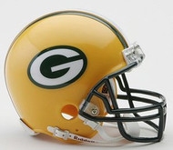 Green Bay Packers NFL Team Logo Riddell 3-Pack Mini Helmet Set