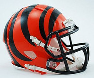 Cincinnati Bengals NFL Team Logo Riddell 3-Pack Revolution SPEED Mini Helmet Set