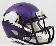 Minnesota Vikings NFL Team Logo Riddell 3-Pack Revolution SPEED Mini Helmet Set
