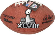 Super Bowl 48 XLVIII Wilson Official NFL Authentic Game Football Denver Broncos vs Seattle Seahawks