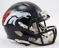 Denver Broncos NFL Team Logo Riddell 6-Pack Revolution SPEED Mini Helmet Set