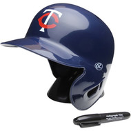 "Minnesota Twins Rawlings ""On Field"" Mini replica batting helmet"