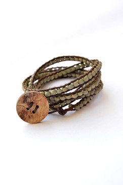 5X Wooden Bead Wrap Bracelet
