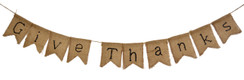 Burlap Banner Give Thanks