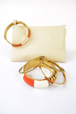Bangle Clutch - Orange