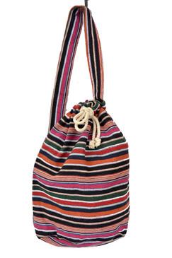 Striped Sling Strap Backpack - Dark
