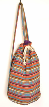 Striped Sling Strap Backpack - Light