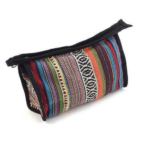 Gheri Patterned Fabric Document Bag
