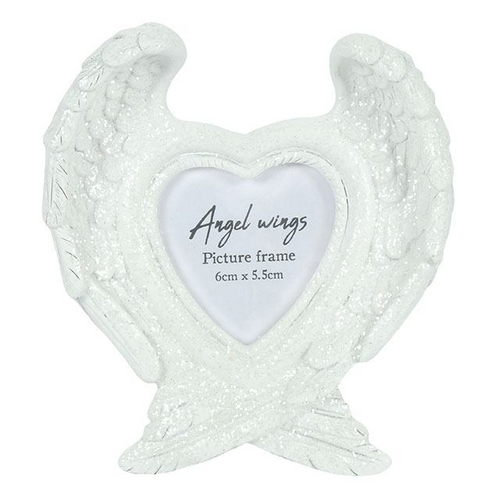 Glitter Angel Wings Photo Frame