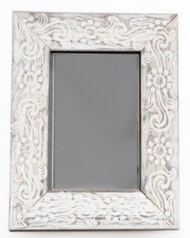 Rustic Patterned Wood Photo Frame - 4x6""