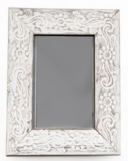 """Rustic Patterned Wood Photo Frame - 4x6"""""""