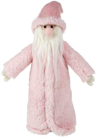 Woolly Pink Santa Decoration (27cm)