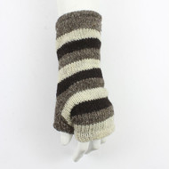 Grey Stripe Tube Gloves
