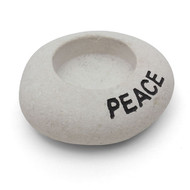 Peace Stone Tea Light Holder