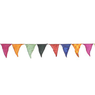 Large Flag Recycled Sari Bunting