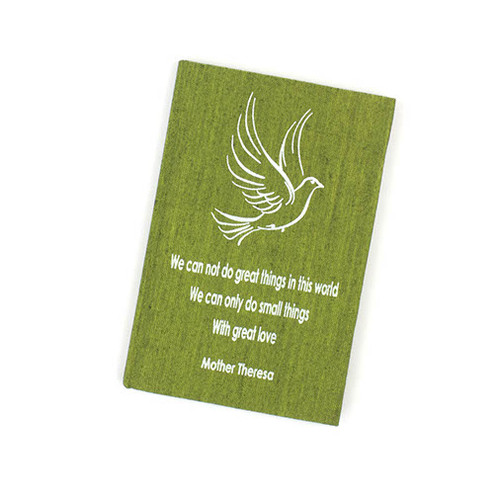 Small Things Affirmation A6 Notebook - Green