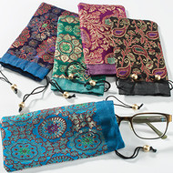 Brocade Drawstring Glasses Case