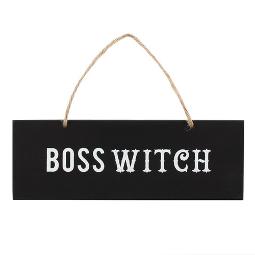 Boss Witch Wooden Wall Sign
