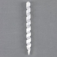 Round Pointed Selenite Spiral Wand