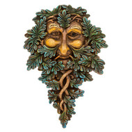 Green Man Plaque (Blue)