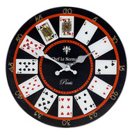 Playing Cards Large Glass Clock