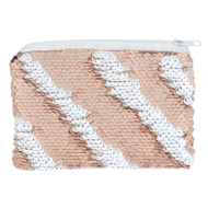 Rose Gold and White Reversible Sequin Purse