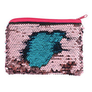 Blue and Pink Reversible Sequin Purse
