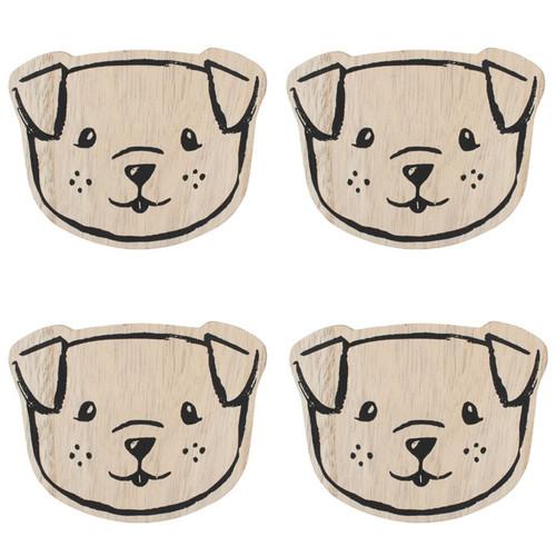 Set of 4 Dog Coasters