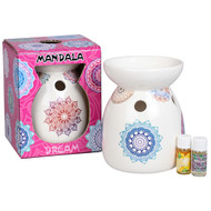 Mandala Design Oil Burner
