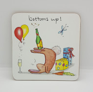 Bottoms Up Drinks Coaster