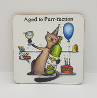 Aged to Purr-fection Drinks Coaster
