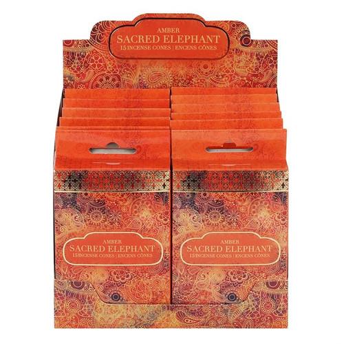 Sacred Elephant Amber Incense Cones