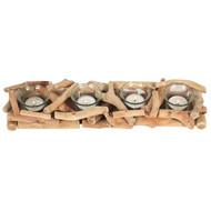 4-Piece Driftwood Candle Holder