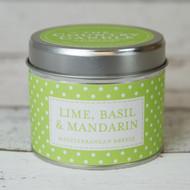 Lime, Basil and Mandarin Tinned Candle