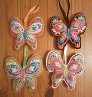Embroidered Padded Felt Butterfly