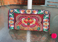 Large Embroidered Purse - Red