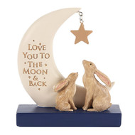 Love You to the Moon and Back Resin Block Sign