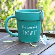 Novelty Plant Pot Mug and Shovel Spoon