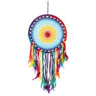Multicoloured Feather Crochet Dreamcatcher