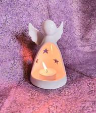 White Ceramic Angel Tea Light Holder