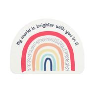 My World is Brighter Rainbow Coaster