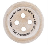 Friends are like buttons coaster