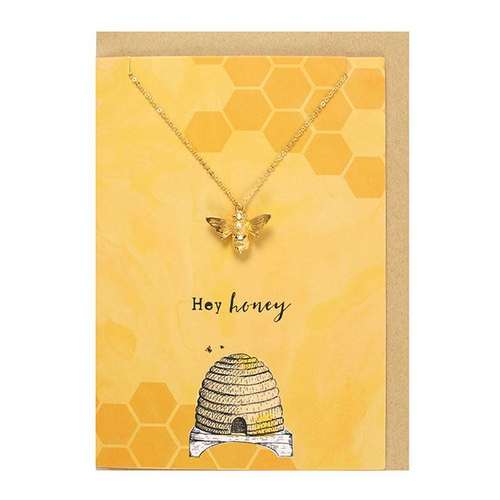 Hey honey Necklace and Card Set