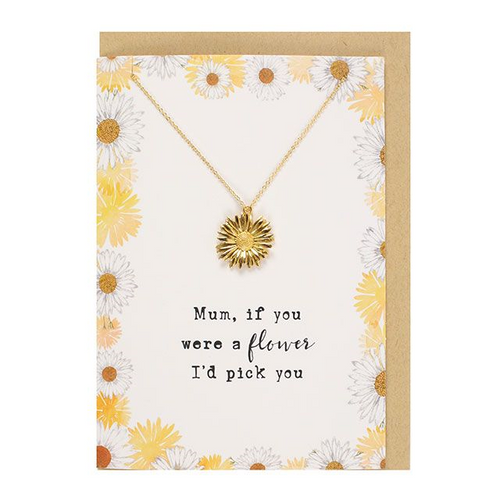 Mum, If you were a flower Necklace and Card Set