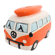 Campervan Money Box (Orange)