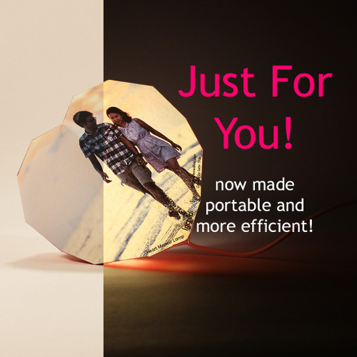 A unique lamp just for Valentines Day! Put your image on this lamp and make it memorable!