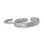 Hammered Cuff Bracelet - Sterling Silver