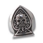Skull of Spades Ring