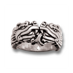 Aztec Dragon Ring - Sterling Silver